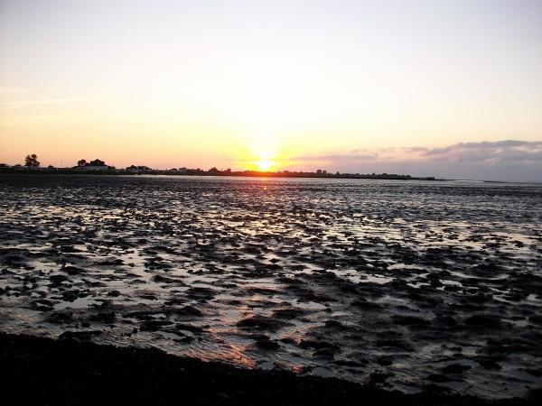 Sonnenuntergang in Burhave